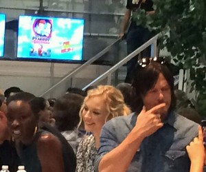 norman reedus, twd, and emily kinney image