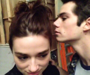 crystal reed, dylan o'brien, and teen wolf image