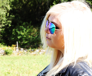 blonde, piercing, and summer image