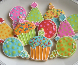 birthday, Cookies, and cupcakes image