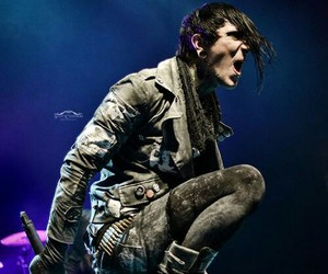 motionless in white, chris motionless, and miw image