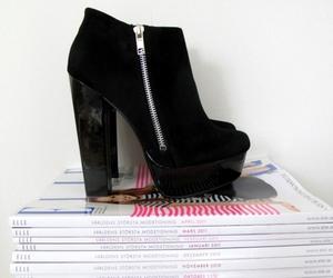 fashion, heels, and magazine image