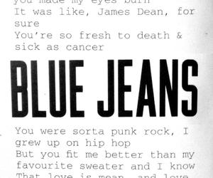 blue jeans, born to die, and lana del rey image
