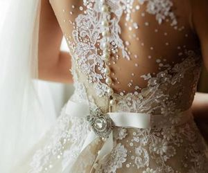 beautiful, wedding dress, and dress image