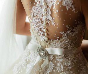 beautiful, dress, and wedding dress image