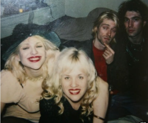 kurt cobain, Courtney Love, and kat bjelland image