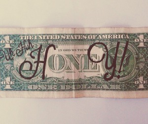 money, honey, and dollar image
