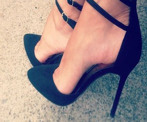 fashion, heels, and black image