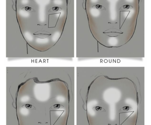 beauty, contour, and faces image