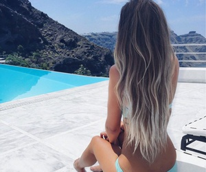 beautiful, long hair, and ombre image