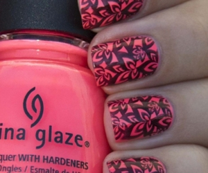 nails, pink, and cool image