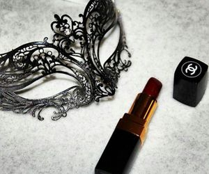 chanel, lipstick, and mask image