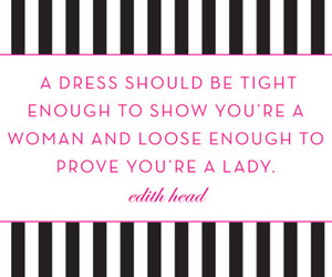 dress, quote, and lady image