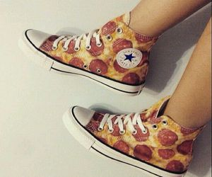 converse, twitter, and pizza love image