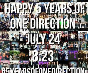 one direction and 5 years of one direction image