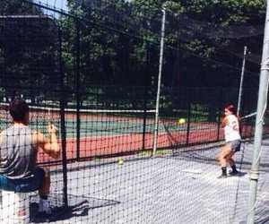 couple, batting cage, and relationship goals image