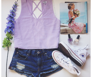 clothes, converse, and purple image