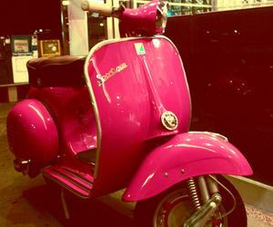 pink, Vespa, and scooter image