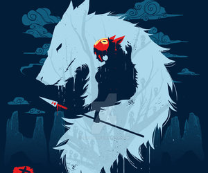 anime, wolf, and mononoke image