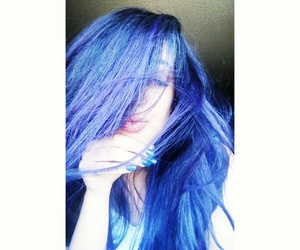 blue hair, purple hair, and mermaid hair image