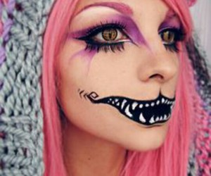 Halloween, makeup, and pink image