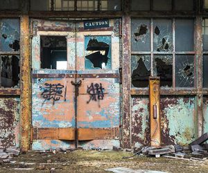 abandoned, broken, and building image
