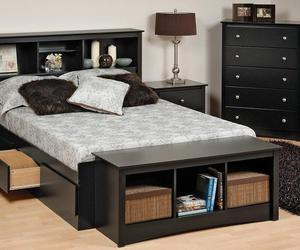 upholstered bench, bedroom bench, and bed bench image