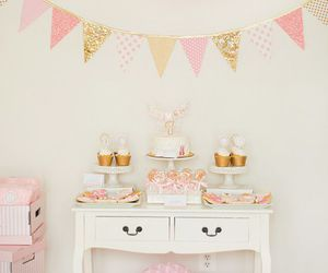 birthday party, deserts, and girly image
