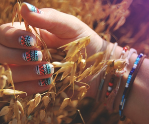 aztec, pattern, and aztec nails image