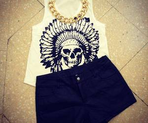 clothes, necklace, and outfits image