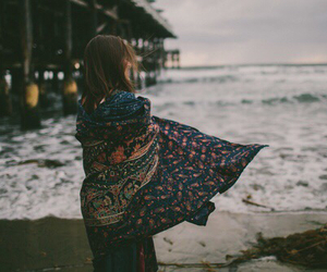 girl, beach, and indie image