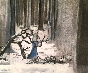 art, ghost, and watercolor image