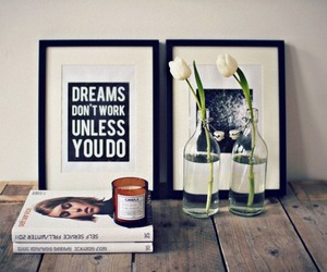 flowers, book, and Dream image