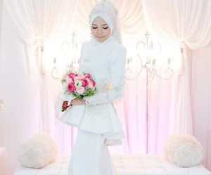 beautiful, gown, and hijab image