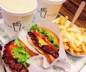 coffee, food, and hamburgers image