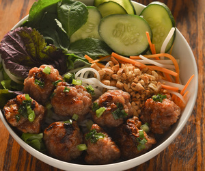 meatballs, pork, and vietnamese image