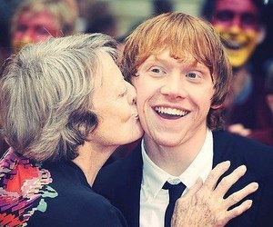 harry potter, rupert grint, and maggie smith image