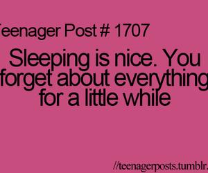 teenager post, sleep, and sleeping image