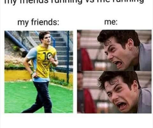 funny, my friend, and run image