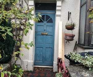 blue, door, and nature image