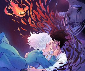 anime, howl's moving castle, and studio ghibli image
