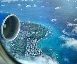 airplane, plane, and sea image