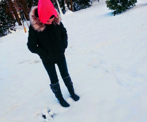 hijab, snow, and style image