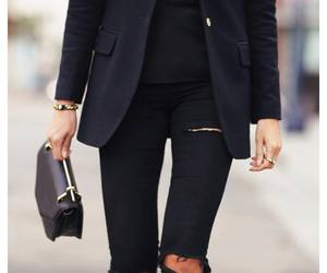 black, classy, and fashion image