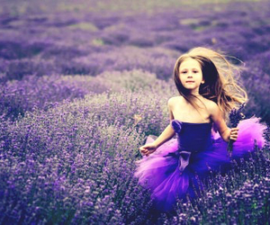 girl, purple, and lavender image