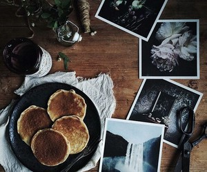 brown, food, and pancakes image