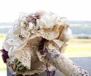 bouquet and lace image