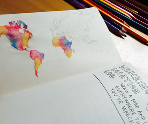 colourful, everywhere, and world map image
