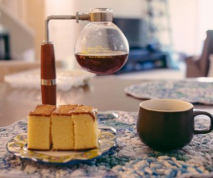 cake, eat, and coffee image