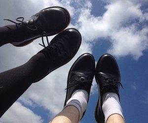 grunge, sky, and shoes image